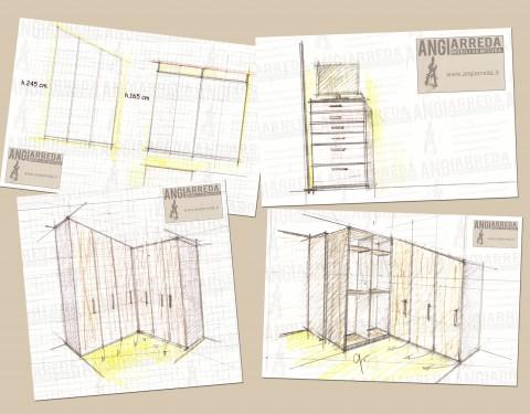Armadio Mansardato angolare/Corner wardrobe